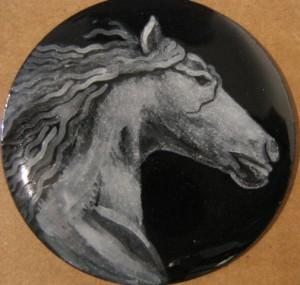 grisaille enamel spirit horse