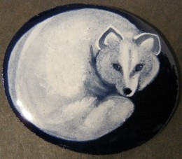 grisaille enamel spirit fox