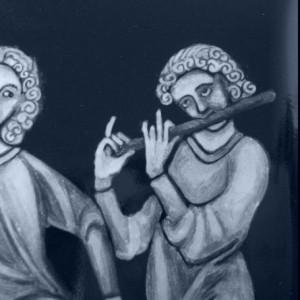 Codex Manesse medieval musicians grisaille enamel