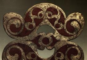 Celtic Ornamental Bronze Plaque. 100 AD