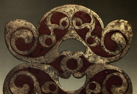 Celtic Ornamental Bronze Plaque. 100 AD